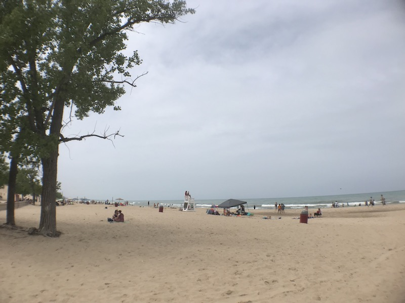The swimming beach, Indiana Dunes State Park