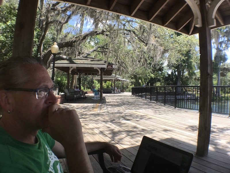 Working at Silver Springs State Park while waiting for Freya's annual maintenance to be completed at Ocala Freightliner