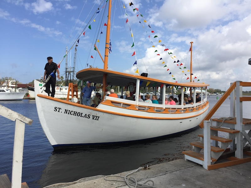We took a tour aboard the St. Nicholas VII to see a sponge diving exhibitition while in Tarpon Springs, FL