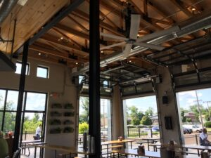 Inside the tasting room at Goshen Brewing