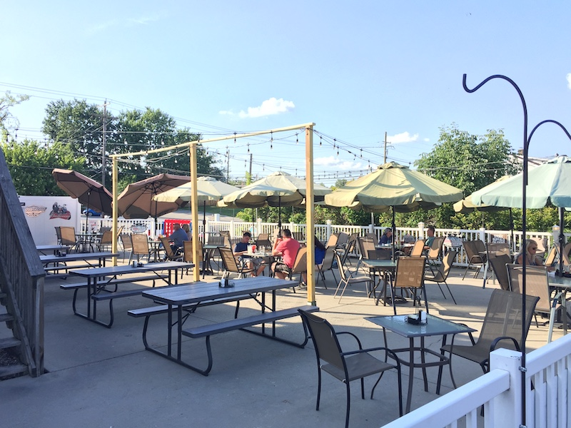 The patio area at Lil' Charlie's Restaurant and Brewery, Batesville, IN