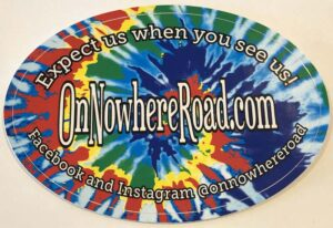 OnNowhereRoad.com Tie Dye Sticker