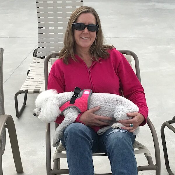 Lora and Roxie at St. Augustine